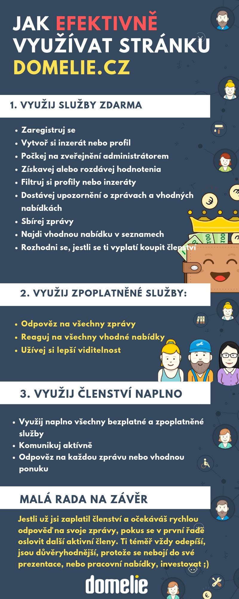 CZ Infografika - Ako efektívne využívať portál Domelie.cz